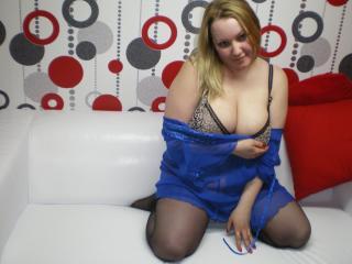 Foto de perfil sexi, da modelo TanyaXXL, para um live show webcam muito quente!