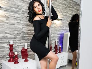Foto de perfil sexy da modelo AngellElla, para um live show muito quente!