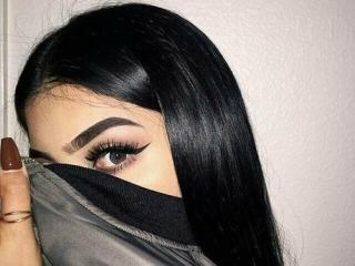 Sexet profilfoto af model BlackCoca, til meget hot live show webcam!